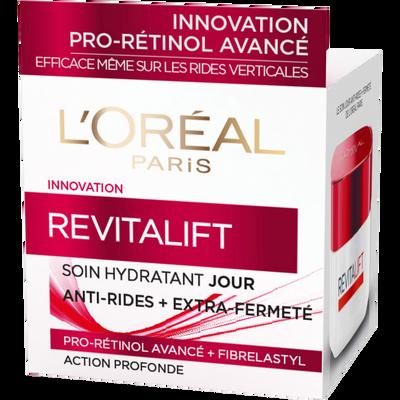 Crème soin de jour hydratant pro-rétinol+fibrelastyl revitalift anti-rides+extra fermeté DERMO EXPERTISE, pot de 50ml