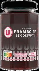 Confiture framboise 65% de fruits U, 300g