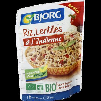 Riz lentilles à l'indienne bio BJORG, 220g