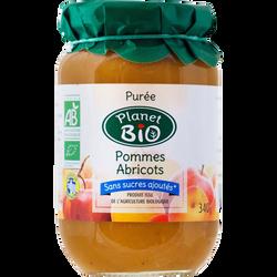 Purée de pommes abricots PLANET BIO, 340g