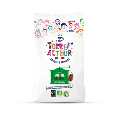 Café en grains origine Bolivie bio LE TORREF'ACTEUR, 450g