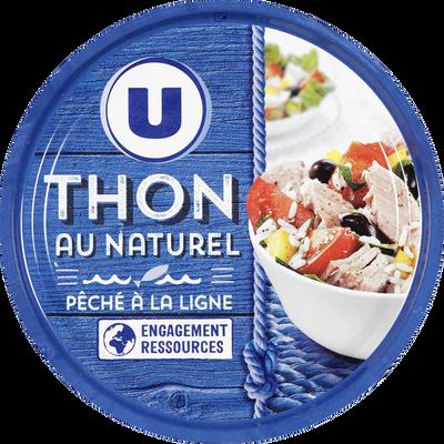 Thon listao au naturel pêché ligne U, 140g