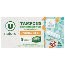 Tampons normal U NATURE x16