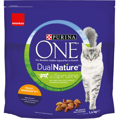One dual poulet PURINA, 1,4kg