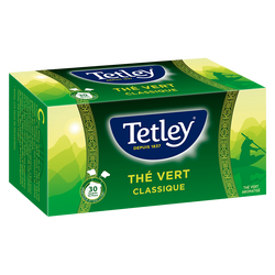 """Thé vert nature """"Tir-Press"""" TETLEY, boîte de 30 soit 45g"""