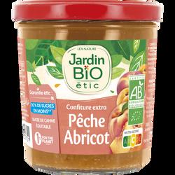 Confiture extra JARDIN BIO, Pêche Abricot, 320g