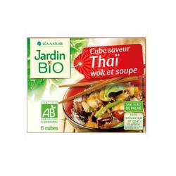 Bouillon de cube saveurt thaï wok et soupe JARDIN BIO 66g