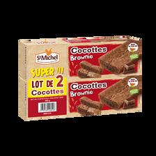 St Michel Brownie Cocottes Chocolat Noir , 2x240g