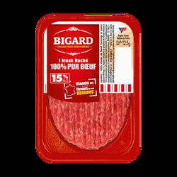 Steak haché, 15% Mat.Gr, BIGARD, France, 1 pièce, 125g