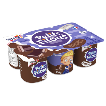Yoplait Dessert Lacté Goût Chocolat Petits Filous, 6x100g