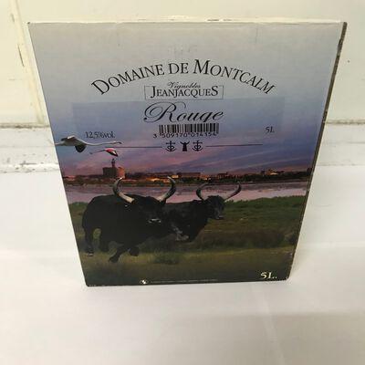 Vin rouge IGP Pays d'oc DOmaine de Montcalm 5L