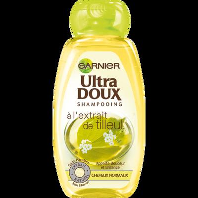 Shampoing au tilleul pour cheveux normaux ULTRA DOUX, flacon de 250ml