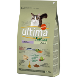 Croquettes pour chats stérilisés au saumon ULTIMA NATURE, 1,25kg