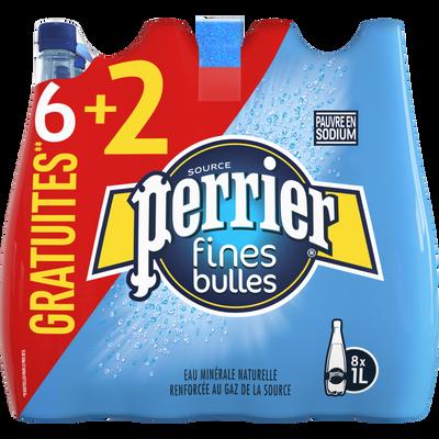 Eau gazeuse Perrier fines bulles 6x1l +2offert