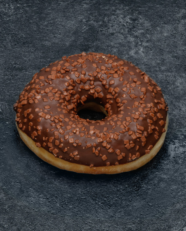Donut fourré caramel, décongelé, 1 pièce, 65g