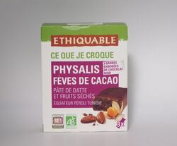 BARRE DATTE PHYSALIS FEVE CACAO EQUATEUR PEROU TUNISIE
