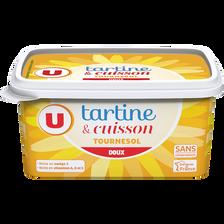 Margarine allégée de cuisson au tournesol U, 60%MG, 500g