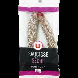 Saucisse sèche courbe pur porc U, 300g