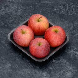 Pomme Gala, BIO, calibre 136/165, catégorie 2, France, barquette 4 fruits