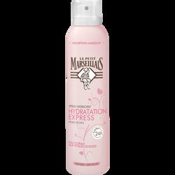 Spray hydratation express eau florale aux pétales de roses LE PETIT MARSEILLAIS, flacon de 200ml