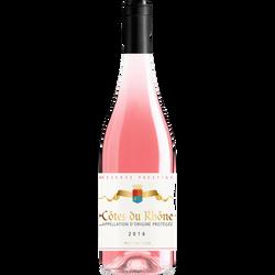 Vin rosé AOP Cotes/Rhône reserve prestige rose, 12.5° bouteille de 75cl