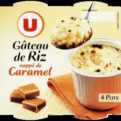 Gâteaux de riz nappés de caramel U, 4x100g