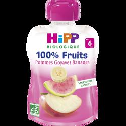 Gourde pommes goyaves bananes bio dès 6 mois HIPP, 90g