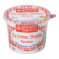 Crème fraîche épaisse PAYSAN BRETON, 30% de MG, 45cl
