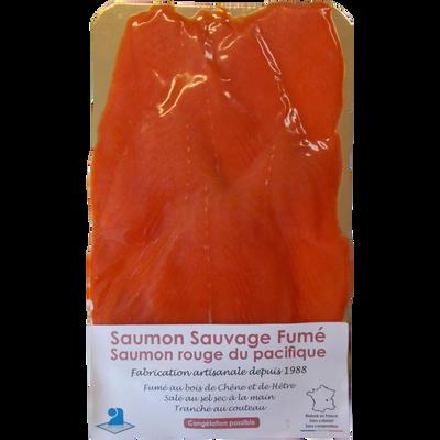 Saumon sauvage d'Alaska fumé 6 tranches LE PETIT FUMET, 240g