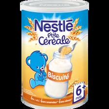 Nestlé P'tite Céréale 8céré.biscuitée  Dès 6 Mois Boîte 400g Mois,400g