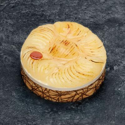Bavarois poire/caramel décongelé, 1 pièce, 100g