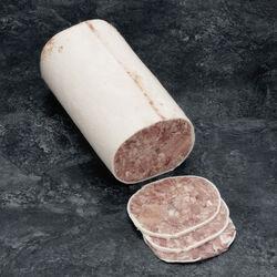 Tête roulée pur porc bardée avec langue