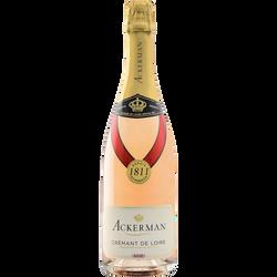 Crémant rosé de loire brut cuvée privilège ACKERMAN, 75cl