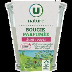 Bougie végétale parfum baies U NATURE, pot de 120g