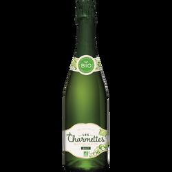 Vin blanc brut mousseux bio les charmettes, bouteille de 75cl