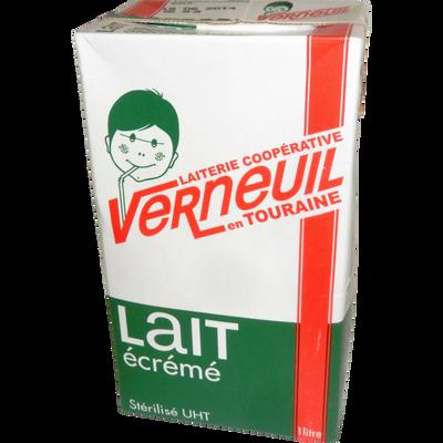 Lait UHT écrémé VERNEUIL brique taille basse 6x1 litre