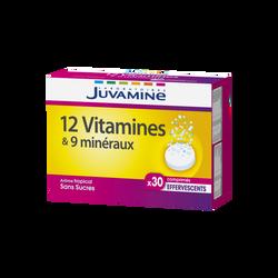 JUVAMINE 12 VITAMINES + 9 MINÉRAUX, 30 comprimés effervescents