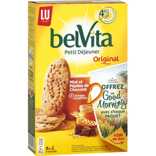 LU Biscuit Miel Et Pépites De Chocolat Belvita Petit Déjeuner Lu, Paquetde 435g