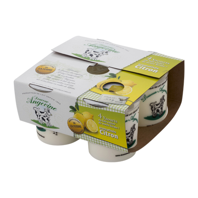 Yaourt aromatisé citron Douceur Angevine, 4x125g