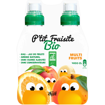 Prêt à boire multifruits,P'TIT FRUISITE ,bio pack 4x20cl