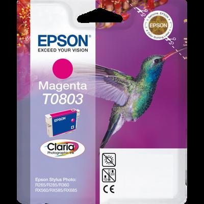 Cartouche d'encre EPSON pour imprimante, T0803 magenta Colibri, sous blister