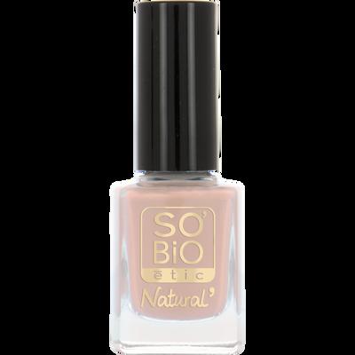 Vernis à ongles, soin et couleur, à l'huile de ricin biologique 03 romantique rose -Sans étui