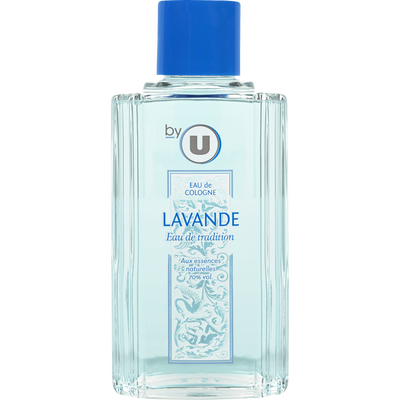 Eau de Cologne parfum lavande BY U, flacon de 250ml