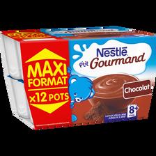 Nestlé P'tit Gourmand Crème Dessert Au Chocolat , Dès 8 Mois, 12x100g