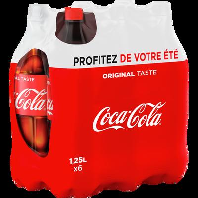 COCA-COLA régular pet 6x1,25 litre Profitez de votre été