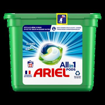 Ariel Lessive All In 1 Pods Alpine Ariel X22