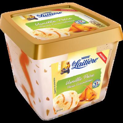Crème glacée vanille poire LA LAITIERE, pot de 470g