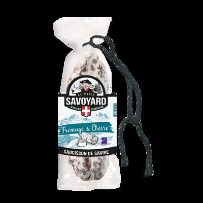 Saucisson sec au fromage de chèvre LE PETIT SAVOYARD, 200g