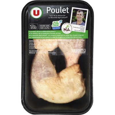 Cuisse de poulet jaune déjointée, U, France, 2 pièces