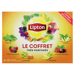 Coffret de thés parfumés assortis LIPTON, 60 sachets, 96g